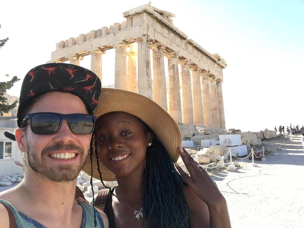 Standing by the Parthenon