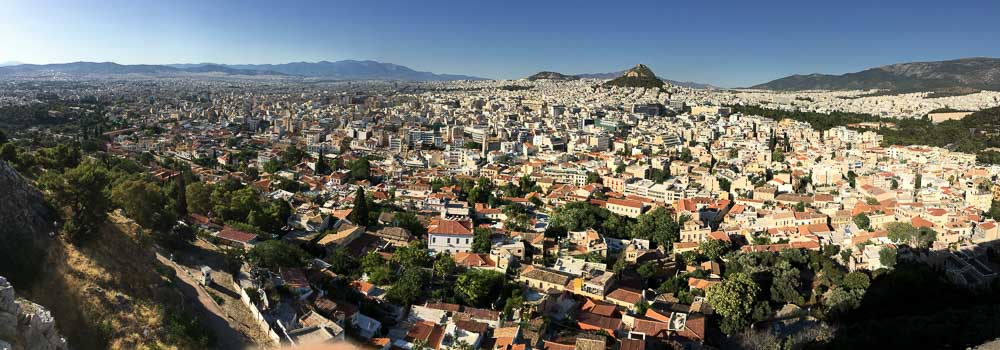 The View of City of Athens from The Acropolis