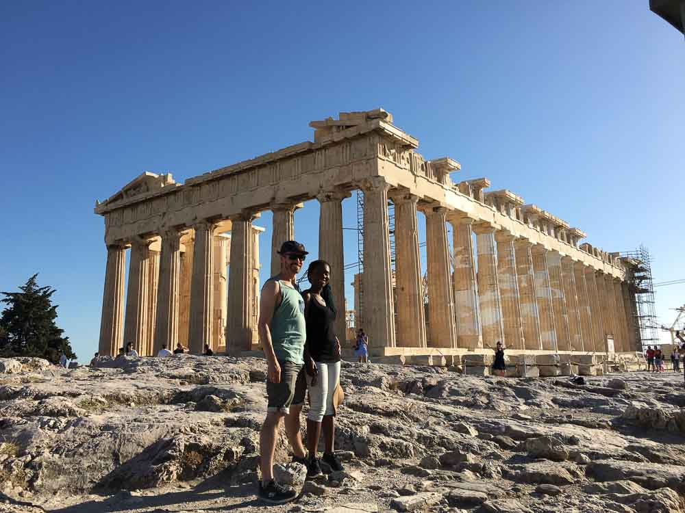 Jerry and I Standing In Front of the Acropolis