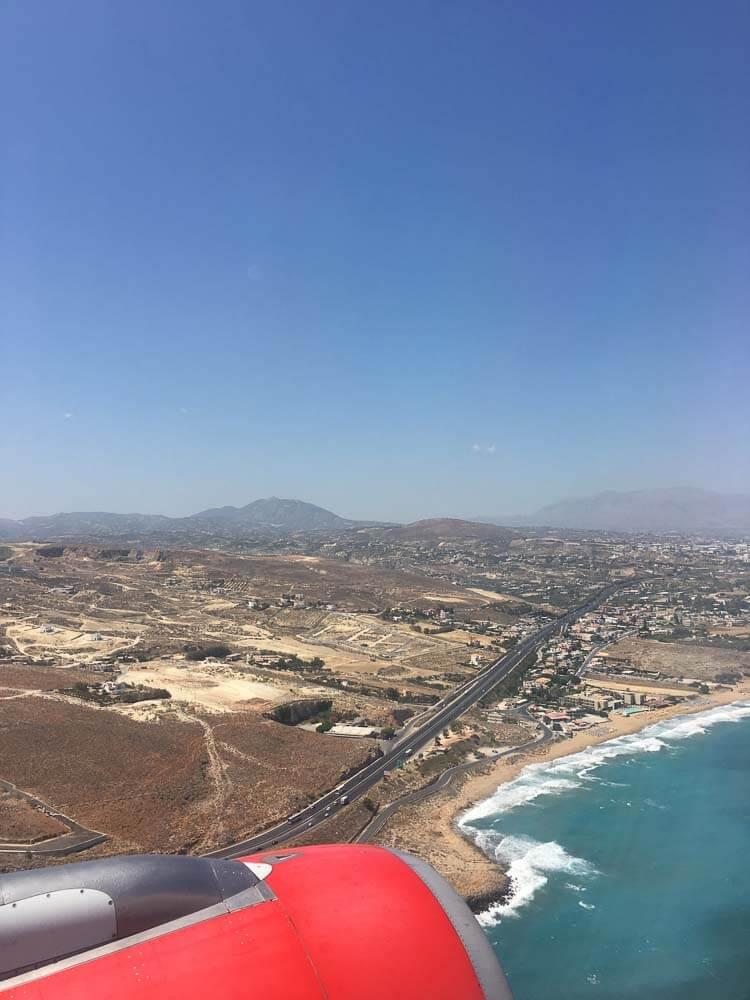 Plane above Heraklion