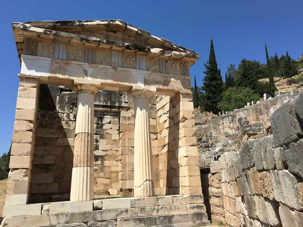 The Treasury in Delphi Greece