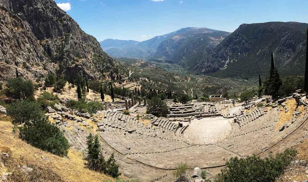 The Amphitheater in Delphi Greece
