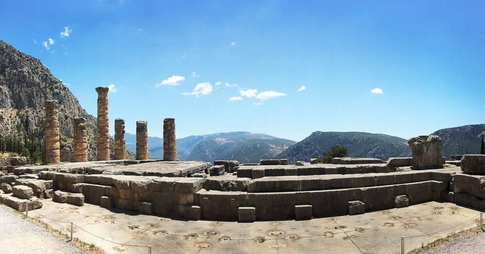 The Temple of Apollo in Delphi Greece