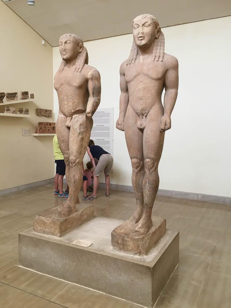Kouros Statue in the Delphi Museum