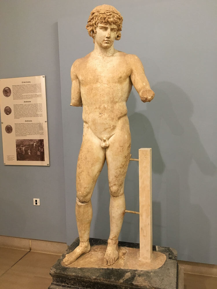 Marble Statue of Antinous in the Delphi Museum