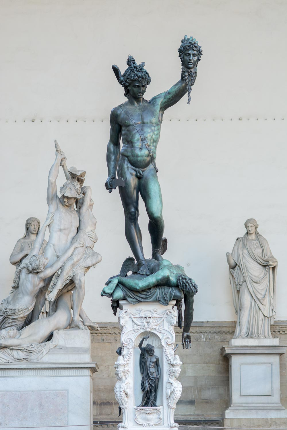 Perseus with the Head of Medusa by Benvenuto Cellini (1554) in Florence, Italy